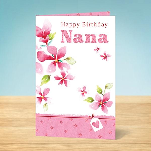 Nana birthday card garlanna greeting cards nana birthday nana birthday bookmarktalkfo Image collections