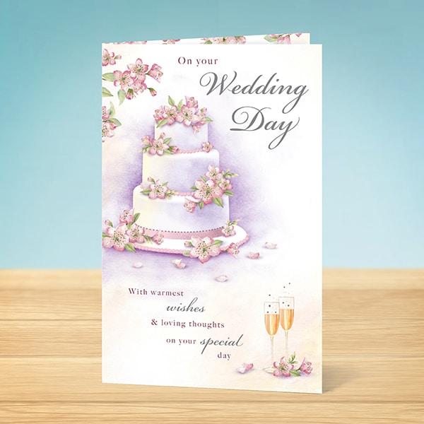 Wedding Card Wedding Day Cake