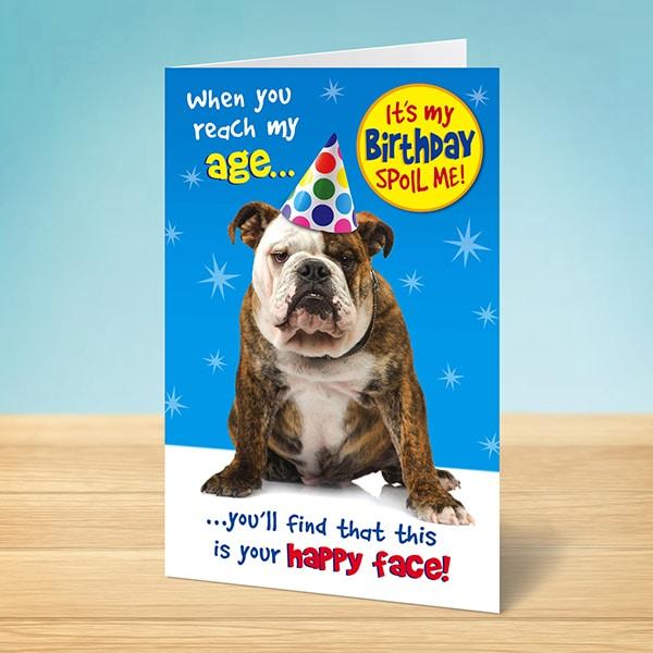 Birthday Happy Face Dog