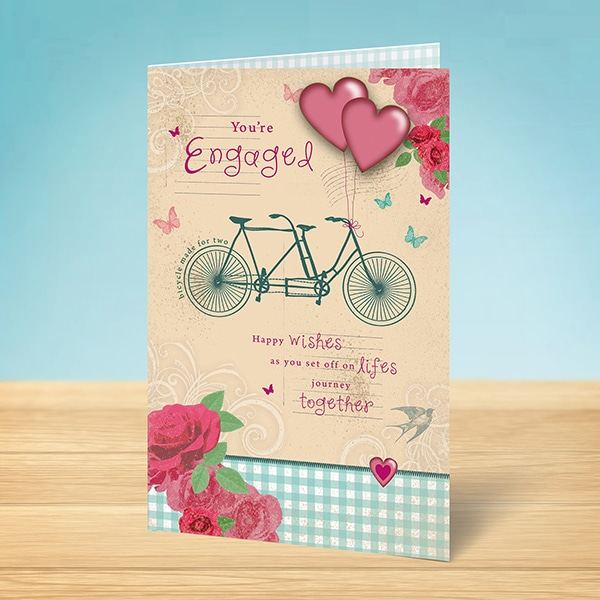 Engagement Card Tandem Bicycle