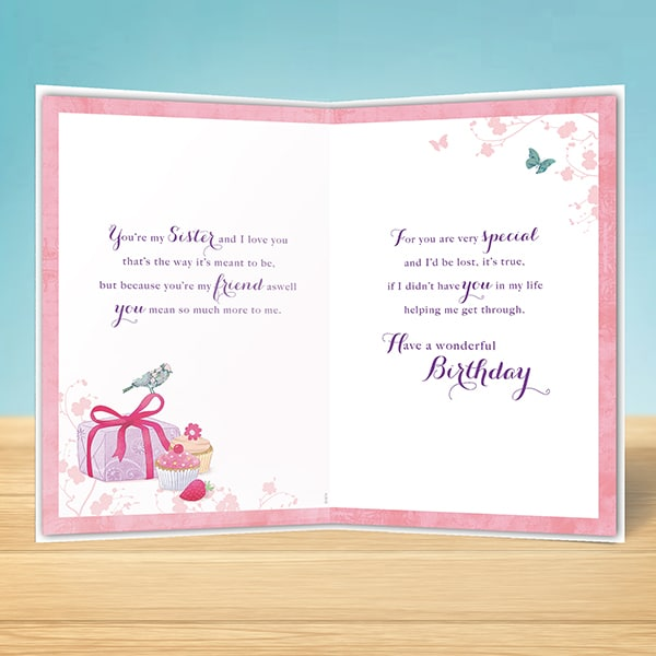 Birthday Card For A Special Sister