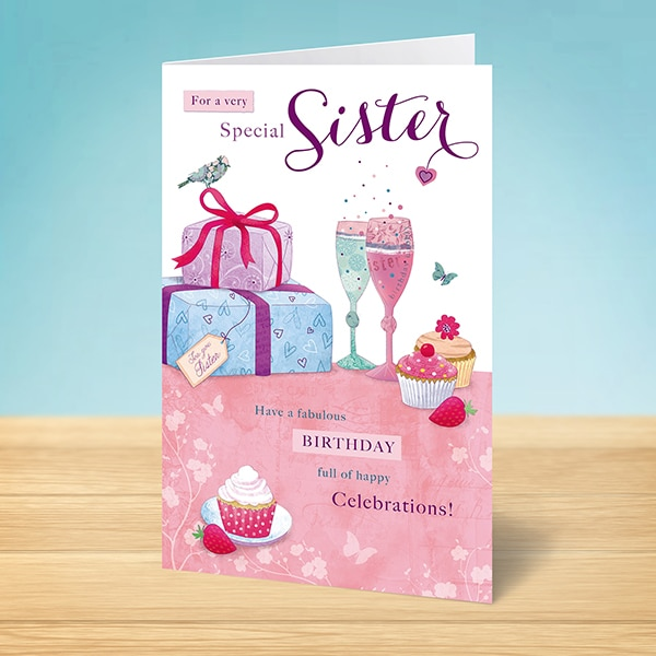 Birthday card for a special sister garlanna greeting cards special sister birthday card m4hsunfo