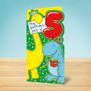 5th Birthday Dinosaur Card