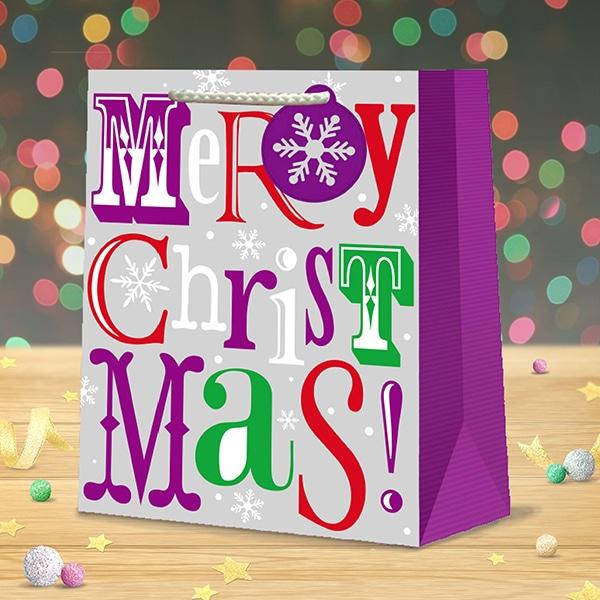christmas gift bag large merry christmas