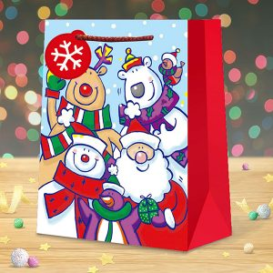 christmas gift bag medium fun characters