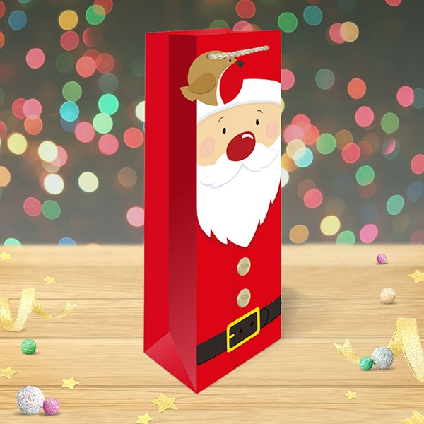 Christmas Bottle Bag Santa Claus