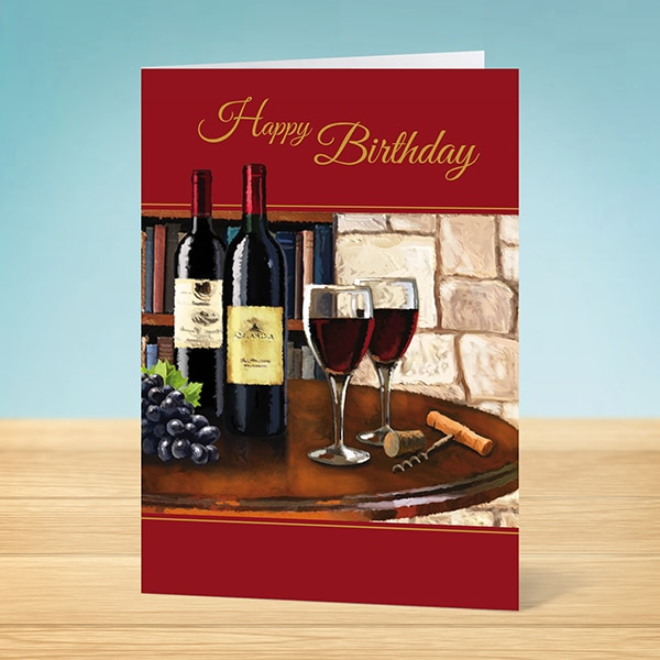 Birthday card wine painting garlanna greeting cards wine connoisseur wine connoisseur bookmarktalkfo Image collections