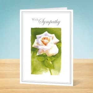 sympathy card white rose - Deepest Sympathy Card