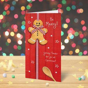 Christmas Card Gingerbread Man