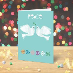 Christmas Card Peace Doves