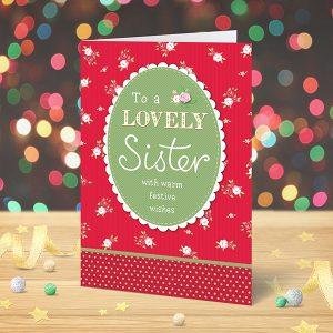 Lovely Sister Christmas card