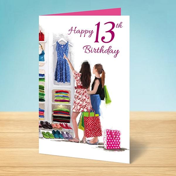 Birthday Card 13th Girl
