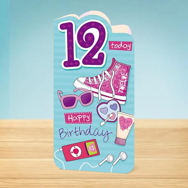 Birthday Card 12th Birthday Trendy Garlanna Greeting Cards – 12th Birthday Cards