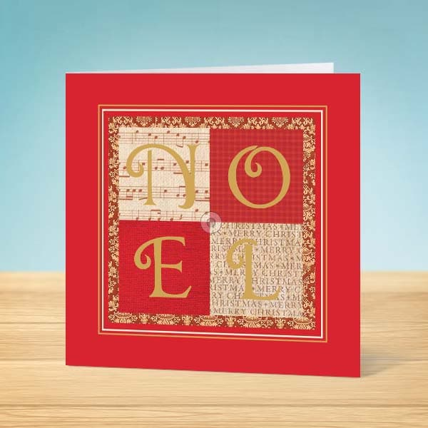 Charity Christmas Cards X 8 Noel Garlanna Greeting Cards