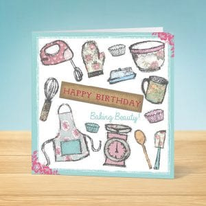 Baking Birthday Card