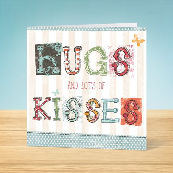 Hugs and Kisses Blank Card Front