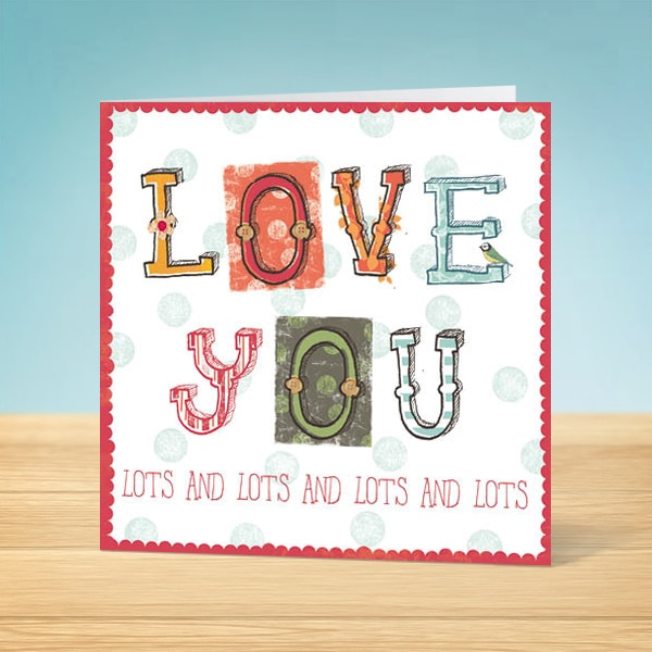 Love You Blank Card Front