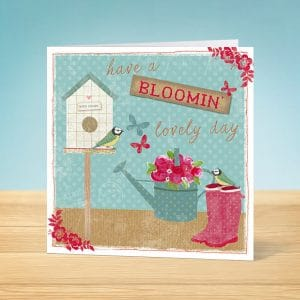 Bloomin' Lovely Blank Card Front