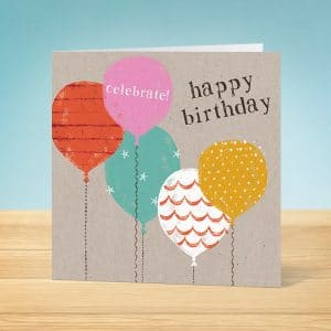 Balloons Birthday Card Front