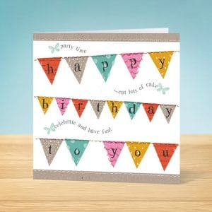 Bunting Birthday Card Front