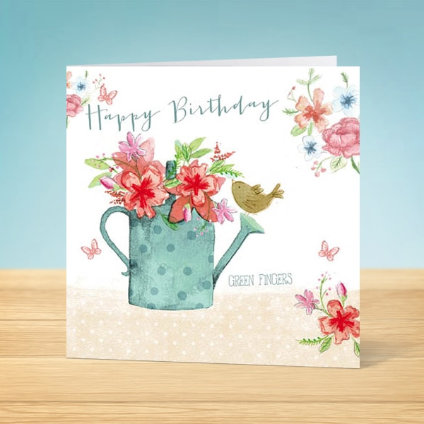 Watering Can Birthday Card Front