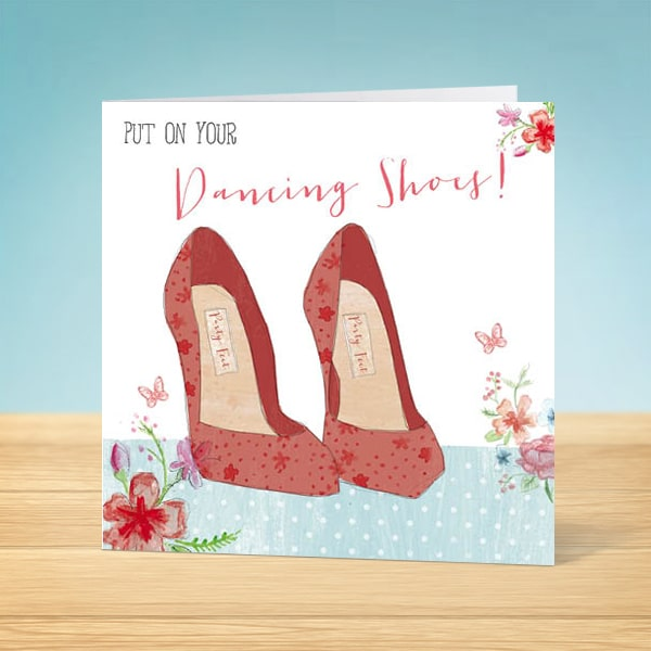 Dancing Shoes Blank Card Front