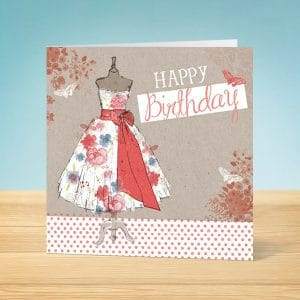 Delightful Dress Birthday Card Front