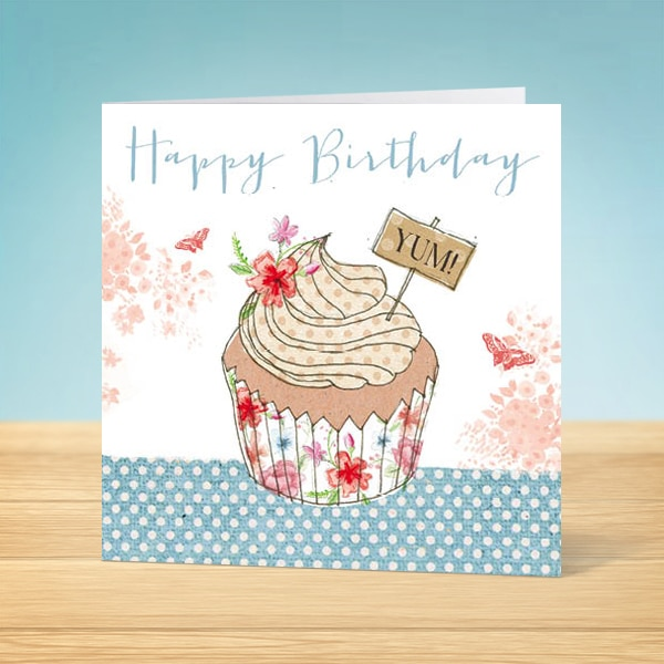 Cupcake Birthday Card Front