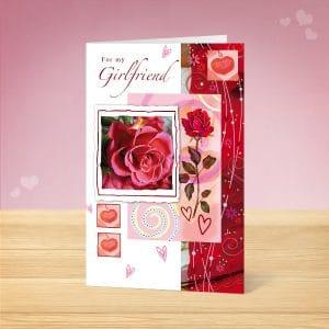 Girlfriend Rose Valentine's Card Front