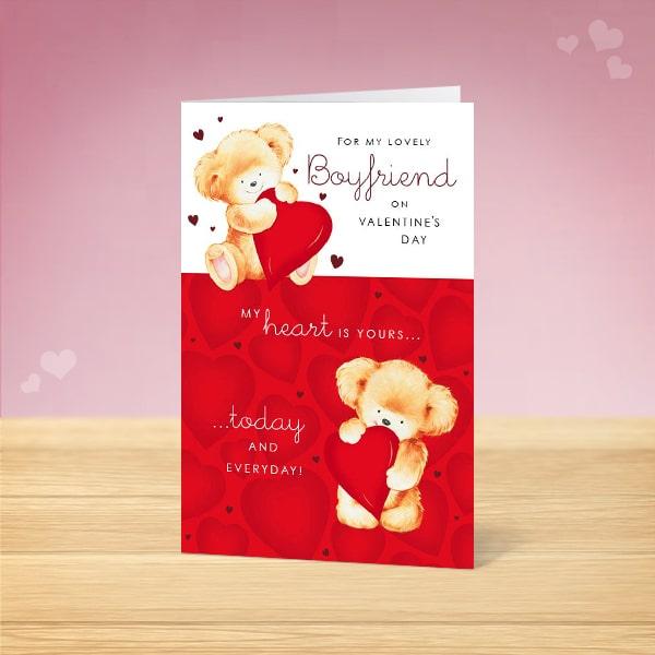 Boyfriend Valentine S Card Garlanna Greeting Cards