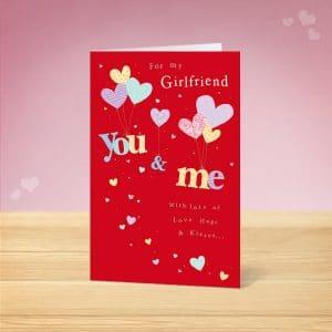 Girlfriend Valentine's Card Front