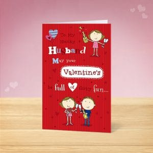 Hunky Husband Valentine's Card Front