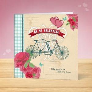 Tandem Bike Valentines Card
