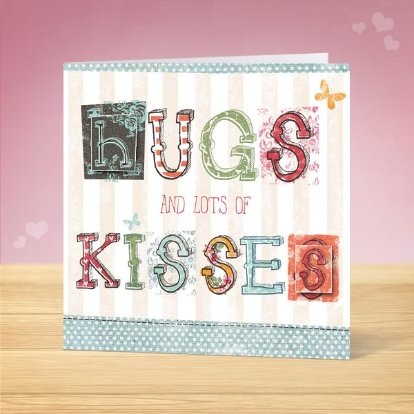 Hugs and Kisses Valentine's Card