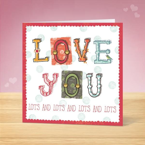 Love You Valentine's Card