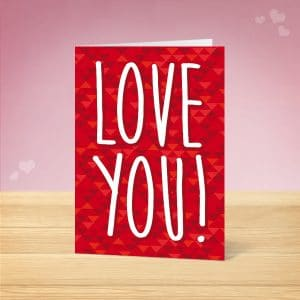 Love You Valentine's Card Front