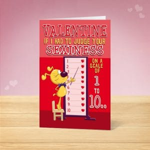 Sexiness Valentine's Card Front