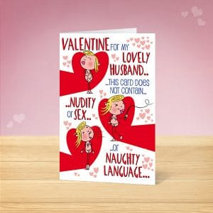 No Nudity Husband Valentine's Card Front