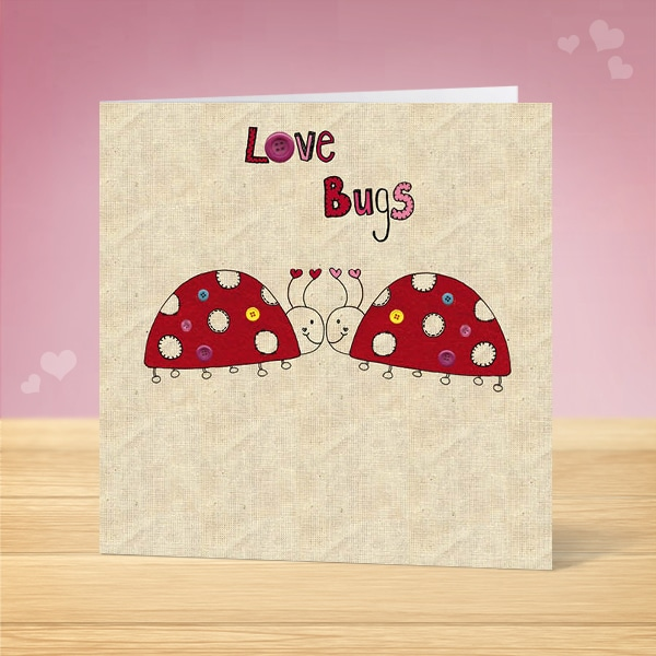 Love Bugs Valentine's Card Front