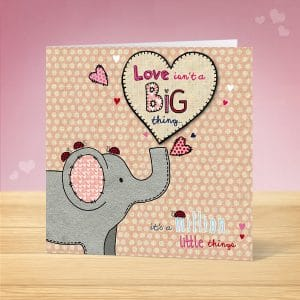 Elephant Valentine's Card Front