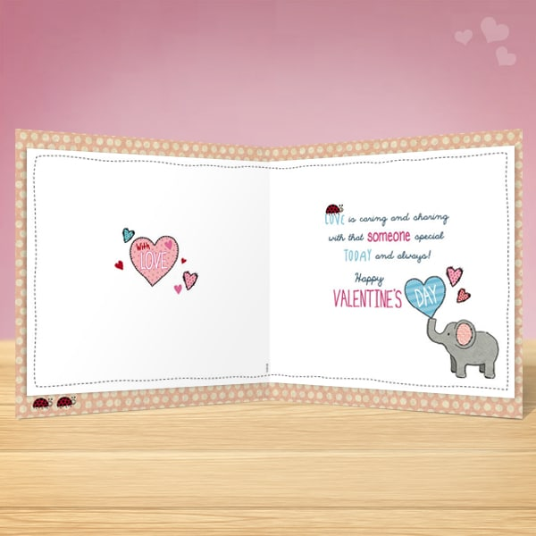 Elephant Valentines Card Garlanna Greeting Cards – Elephant Valentines Card