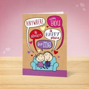 Speech Bubble Valentine's Card Front