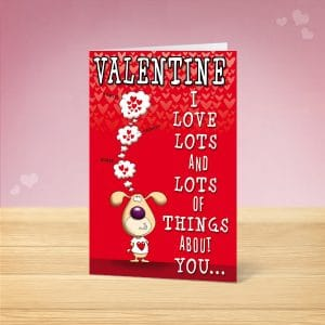 Lots of Things Valentine's Card Front