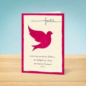 Faith Dove Confirmation Card Front