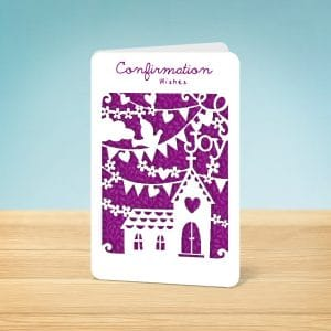 Laser Cut Confirmation Card Front