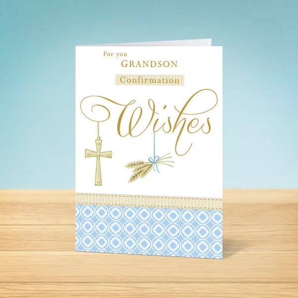 Grandson Confirmation Card front
