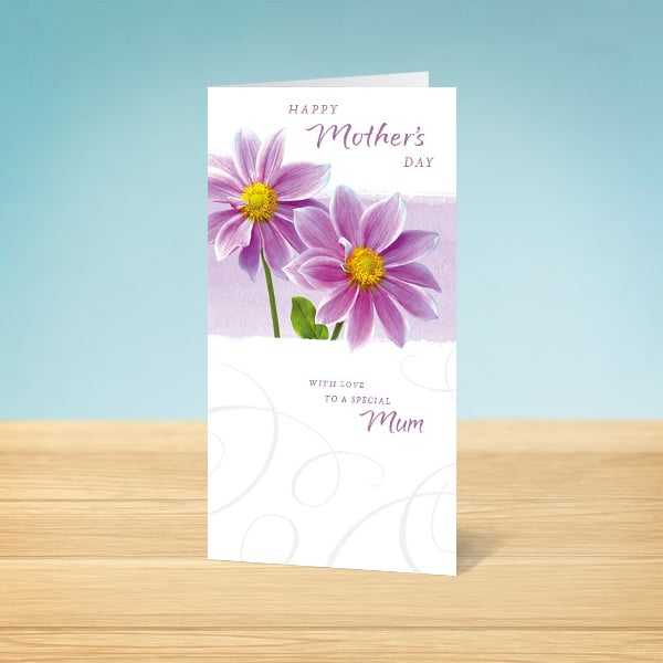 flower mother's day card  garlanna greeting cards