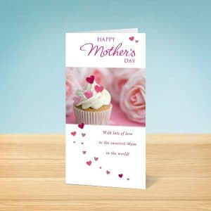 Cupcake Mother's Day Card Front