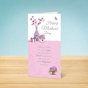 Flower Vase Mother's Day Card Front