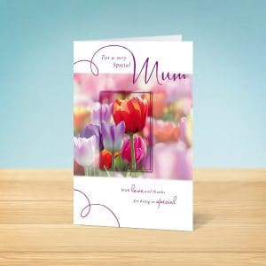 Tulips Mother's Day Card Front